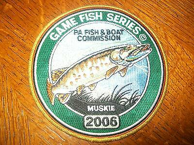 "Pa Pennsylvania  Fish Game Commission Patch 2006 6"" Muskie  Game Fish Series"