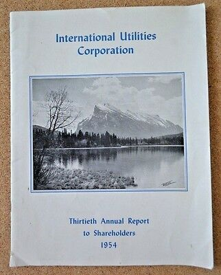 1954 Utilities Corporation Annual Report to Shareholders Gas Electric USA Canada