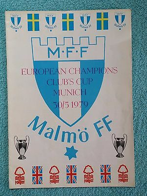 1979 - EUROPEAN CUP FINAL PROGRAMME - MALMO v NOTTS FOREST - MALMO ISSUE