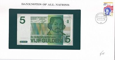 Netherlands - 5 Gulden 1973 UNC Banknotes of all Nations Lemberg-Zp