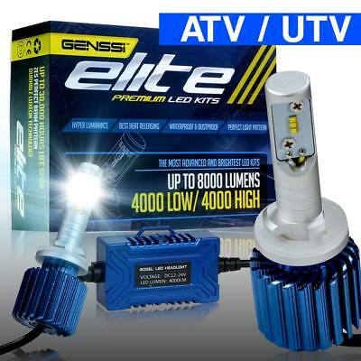 LED ATV UTV Side Headlight Light Bulb Kit 880 885 893 899 6000K Xenon White HID