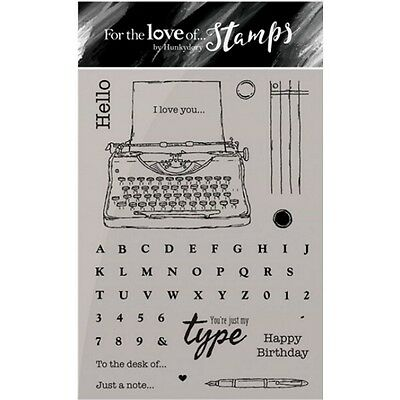 JUST MY TYPE - For The Love of Stamps Clear Stamp Set - Hunkydory