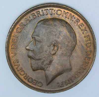 Great Britain 1913 penny unc uncirculated super nice