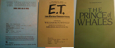 Terminator E.T. Prince of Whales RARE Movie Tie In Uncorrected Proof Three Books