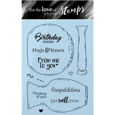 Hunkydory For The Love Of Stamps A6 Stamp Set - Simply Vases