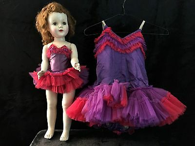 """Vintage 24"""" SWEET SUE American CHARACTER DOLL Matching Child's BALLERINA Outfit"""