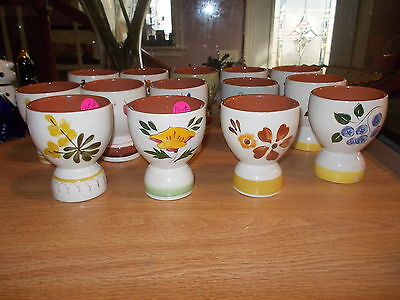"""Lot of 14 Assorted STANGL 3 1/4"""" Egg Cups"""