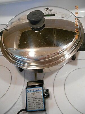 "Saladmaster Oil Core 11"" Electric Skillet #7817 With Vapo Lid And Control"