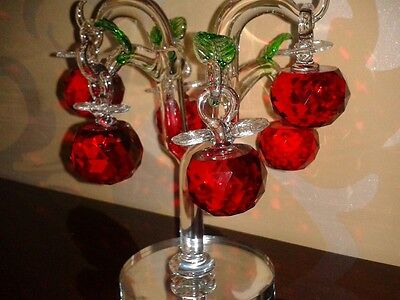 Crystal Room Description Fruit Tree With Lovely Red Apples New!