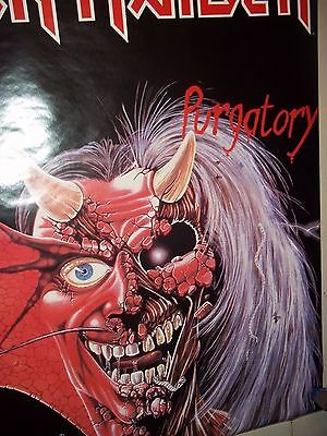"Iron Maiden Purgatory A Very Rare And Licensed 1984 Poster 21"" X 26 1/2"""