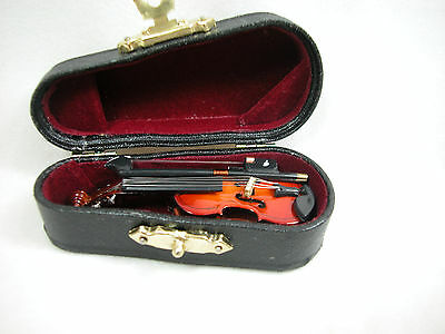 Dollhouse Miniature 1:12 Scale Music  New  Violin Viola  with Case #Z211M