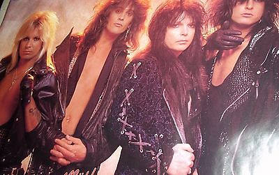 """Motley Crue #3120 In Leather A Very Rare And Licensed 1987 Poster 22 1/2"""" X 34"""""""