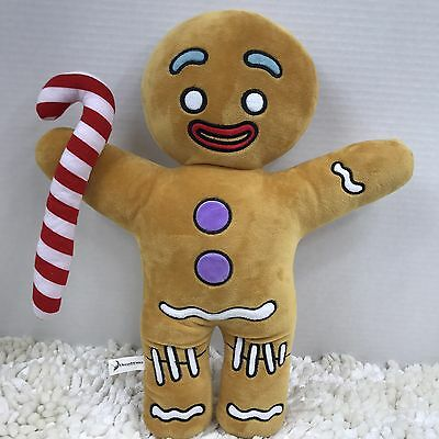 "Dreamworks Shrek Movie 19"" Gingerbread Man Gingy Plush Stuffed Animal Toy EUC"