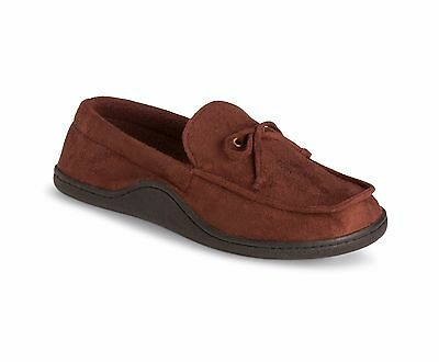 Mens L (9- 10) Isotoner Brown Bedroom Slippers