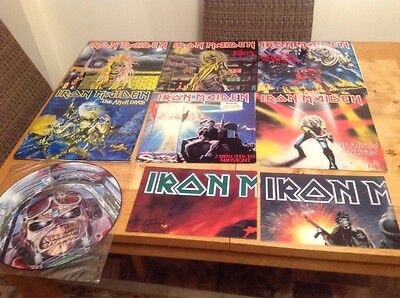 4 Iron Maiden Vinyl LPs .2 12in Job Lot, 1 Picture Disc & 2 Posters