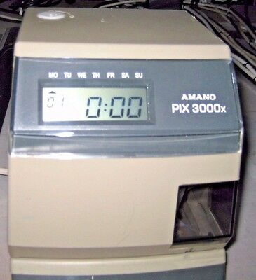 Amano Pix-3000X Automatic Time Recorder