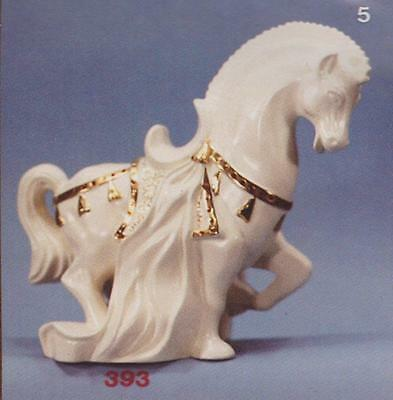 """Used Ceramic Mold Arnel #393 Tang Horse 9-3/4"""" Tall X 8-1/2"""" Long X 6-3/4"""" Wide"""