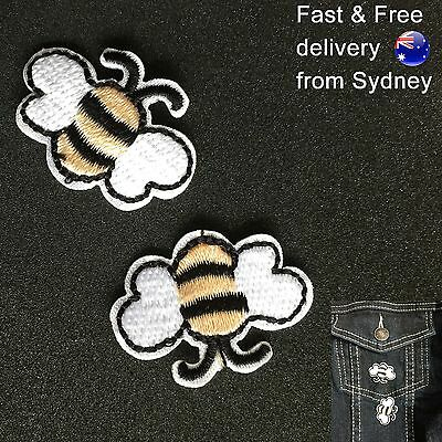 Busy Bees Iron on patch 2 pack - Free & Fast delivery honey deliverer embroidery