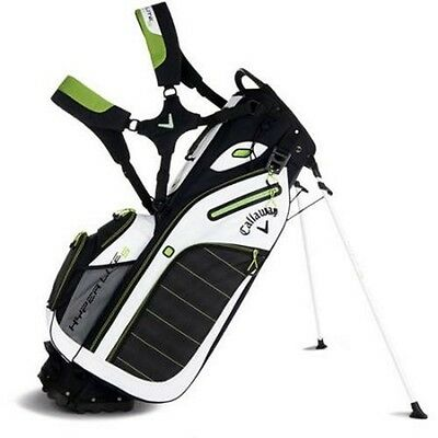 Callaway Hyperlite 5 Stand Golf Bag - Black/white/lime - New - Value Plus!