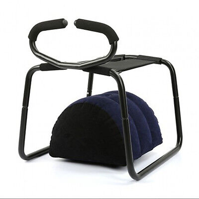 New!TOUGHAGE Weightless Sex Chair Stool with Inflatable pillow and Handrail