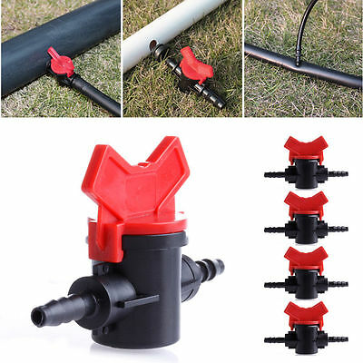 5Pcs 4/7mm Practical Coupling Pipe Irrigation Water Hose Switch Plastic Valve