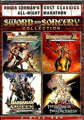 Roger Corman Cult Classics Sword & Sorcery Collection. 4 Greats. New In Shrink!