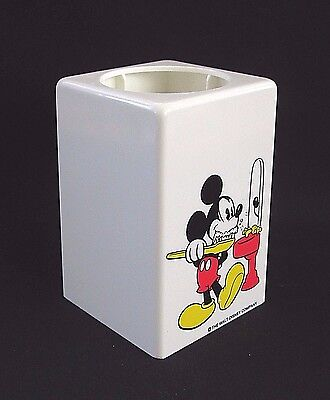 Vintage Mickey Mouse Bathroom  Dixie Cup Plastic Dispenser Walt Disney Company