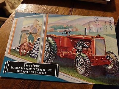 Superb  Advertising Postcard - Firestone Farm TRACTOR Tires - 1934 World's Fair