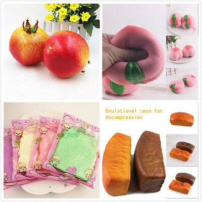 Soft Colorful Toast Fruit Bread Squishy Squeeze Super Slow Rising Toy Gift Decor