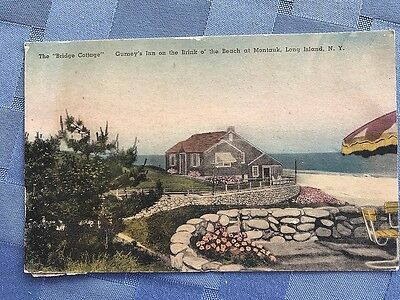 Postcard Bridge Cottage Gurney's Inn on the Brink o' the Beach at Montauk NY