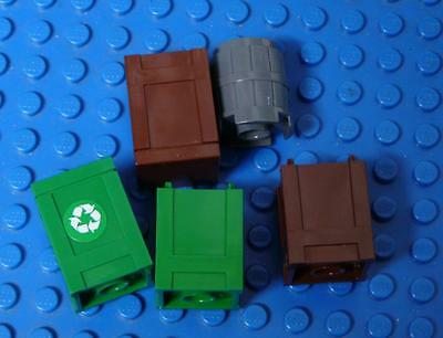 LEGO Minifig Container, Barrel 2x2x2 Assorted  x5PC