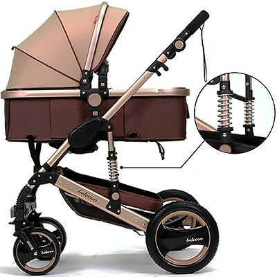 New Belecoo Luxury Newborn Baby  Anti-shock High View Carriage Infant Stroller