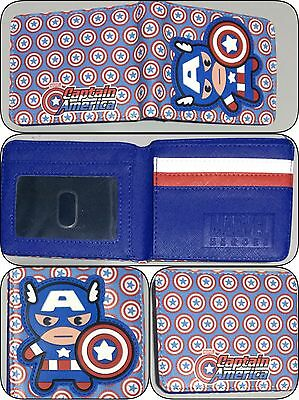 Bifold Wallet Marvel Captain America Heroes Hero Mens Boys Girls Kids Superhero