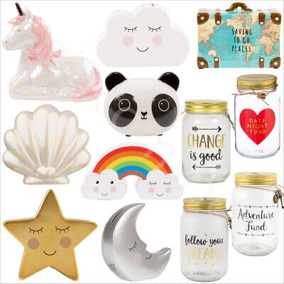 Sweet Dreams Novelty Money Box Star And Cloud Shaped Piggy Bank Home Decoration
