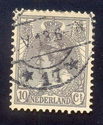 Nederland 10Ct Used Stamp A14199 Crown