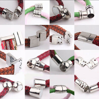 5 Sets Silver Plated Tone Strong Magnetic Clasp Hook Jewelry Necklace DIY Gift