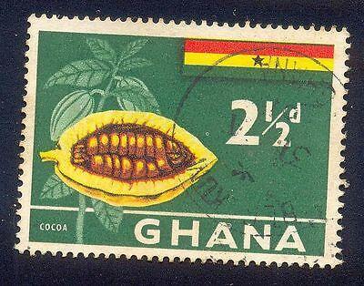 Ghana 2.50D Used Stamp A15138 Cocoa Flag