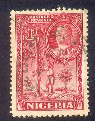 Nigeria 1D Used Stamp A15046 Cocoa Tree Plant King Crown
