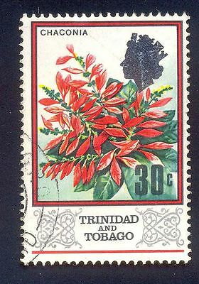 Trinidad Tobago 30C Used Stamp A15184 Chaconia Flower Plant