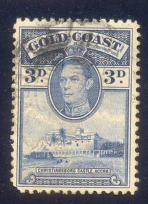 Gold Coast 3D Used Stamp A15048 Christiansborg Castle Accra King George Vi