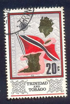 Trinidad Tobago 20C Used Stamp A15185 Every Creed Race Flag
