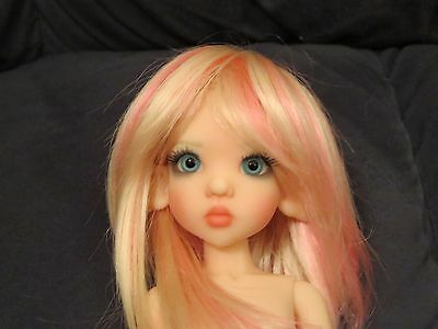 Sweet and Adorable Kaye Wiggs Raillie Elf Tiny BJD Soft Pink