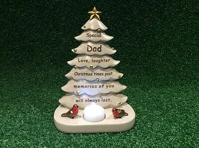 Dad Festive Xmas Tree, Grave Memorial Ornament, Graveside Cemetery Tribute Gift