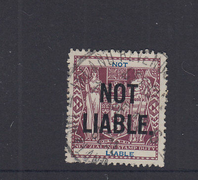 New Zealand 1931 (-) Purple Arms- NOT LIABLE--Revenue-FU