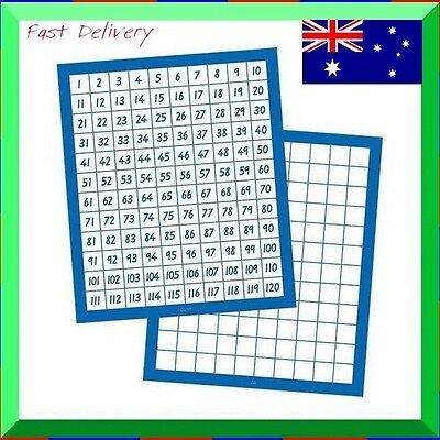Education Resource  Number Board Learning Numbers  1 to 120 (24 x 28 cm)