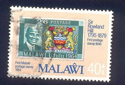 Malawi 40T Used Stamp A14766 Stamp On Stamp Sir Rowland Hill