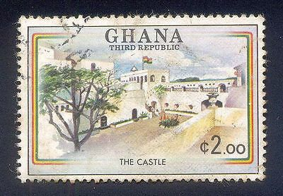 Ghana 2.00C Used Stamp A14929 The Castle Flag Tree