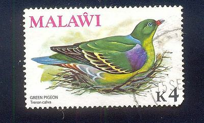 Malawi K4 Used Stamp A14812 Green Pigeon Bird