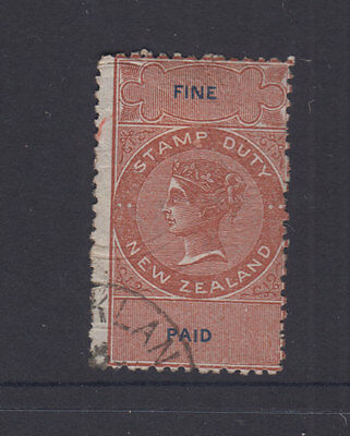 NZ 1873 (-) Brown & Blue QV Die II FINE PAID-Revenue- p12- VFU