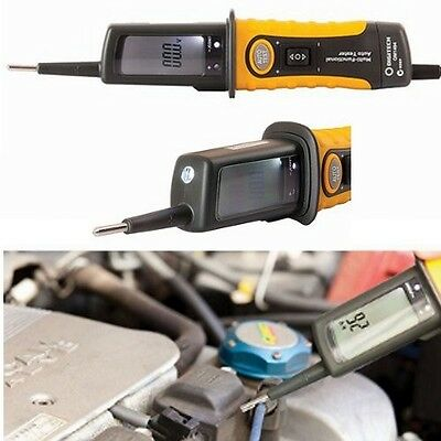 Automotive Multi-Function Circuit Tester with LCD, Light 12V/24V New!